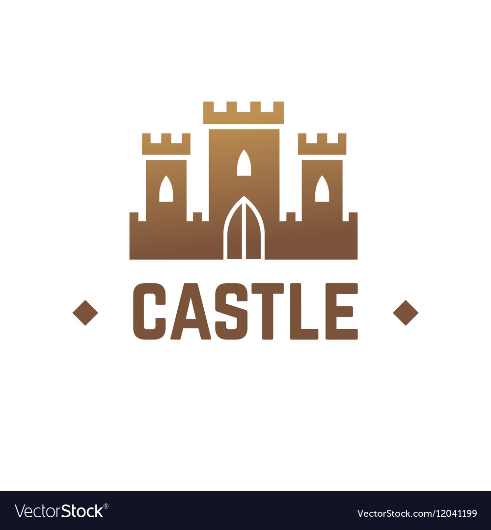 Castle logo design Knights fortress with