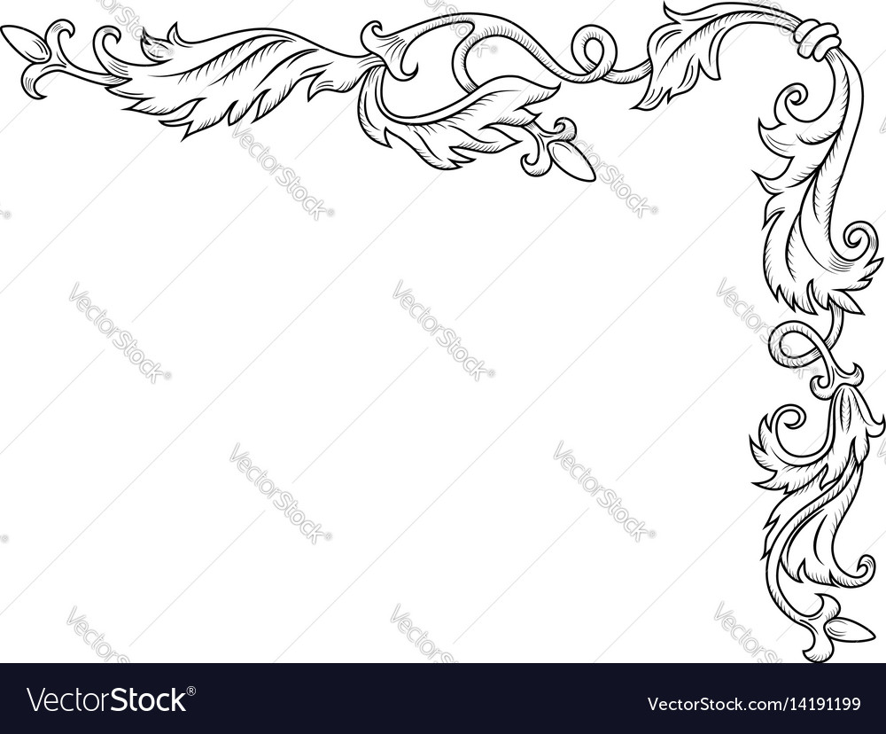 Decorative corner ornament