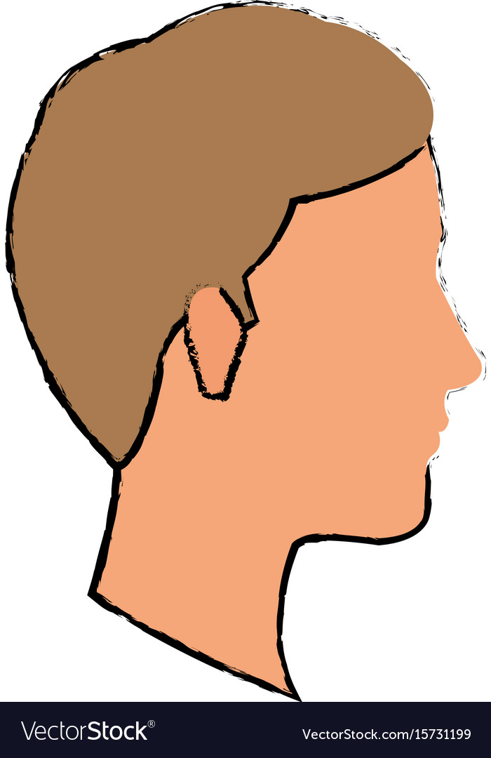 Profile man young character people