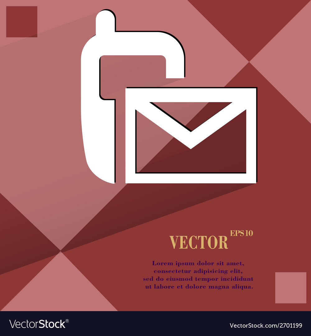 Sms Flat modern web design on a flat geometric vector image on VectorStock
