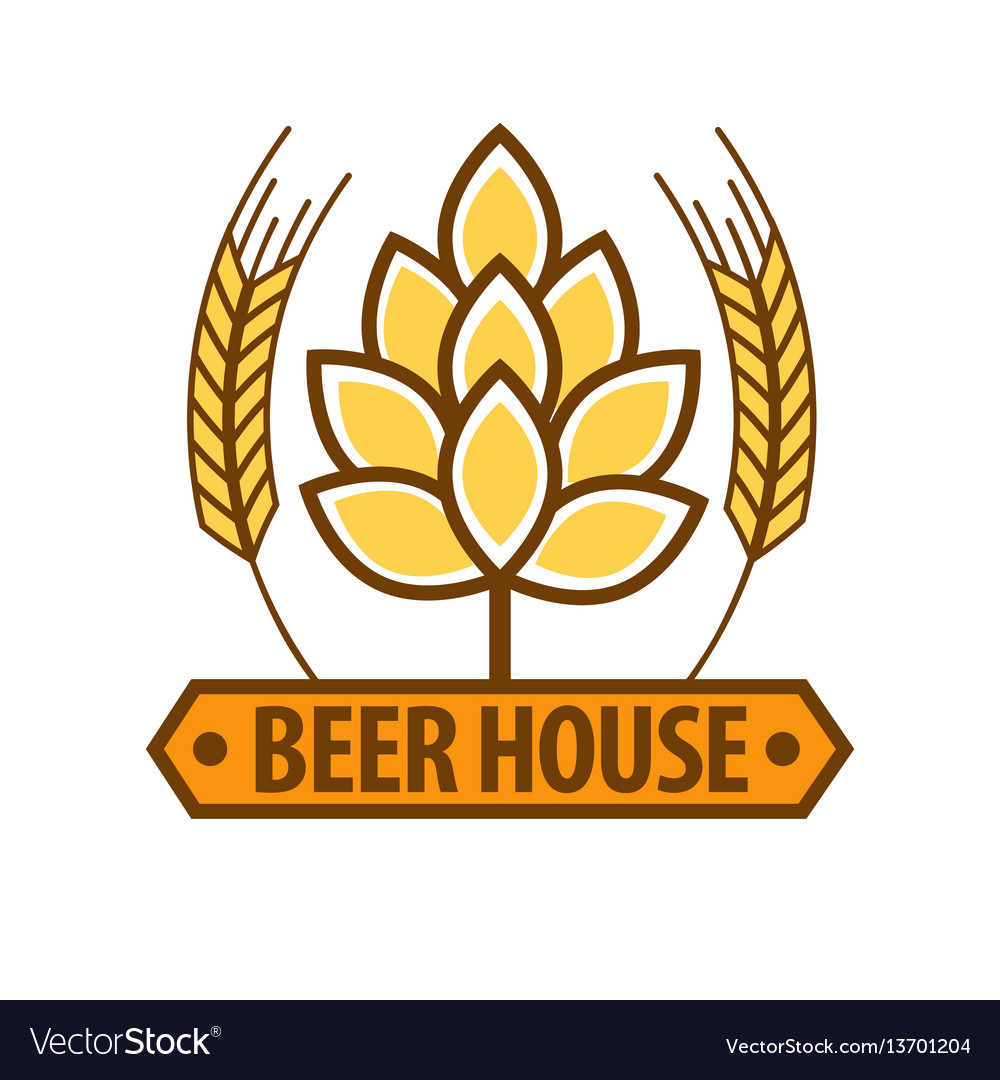 Beer house drink label flat design art pattern on