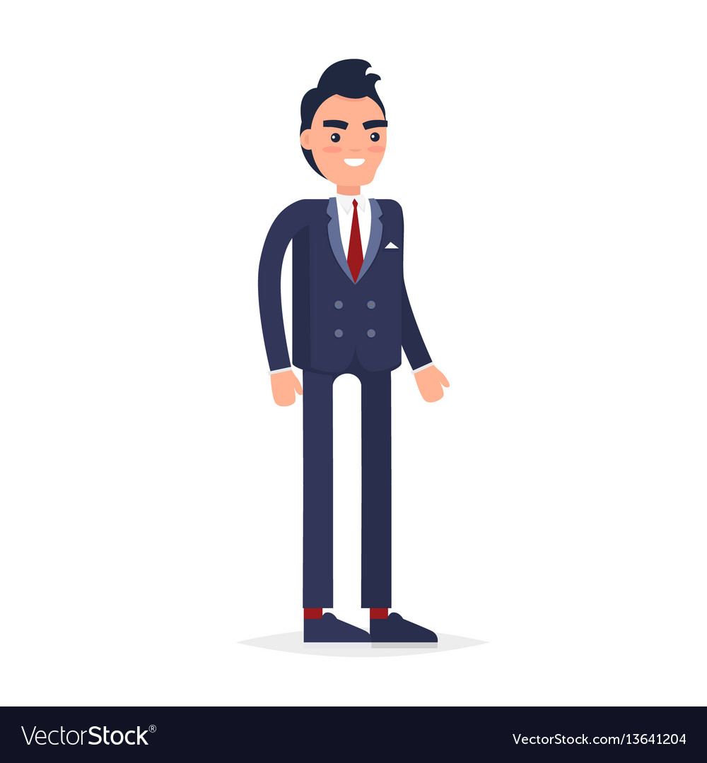 Businessman character isolated