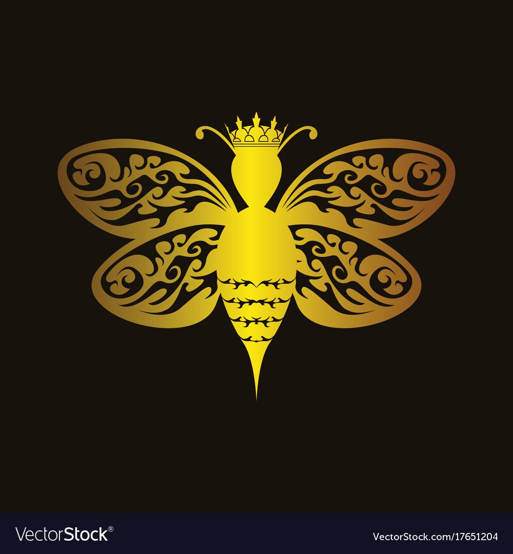Queen Bee Royalty Free Vector Image Vectorstock