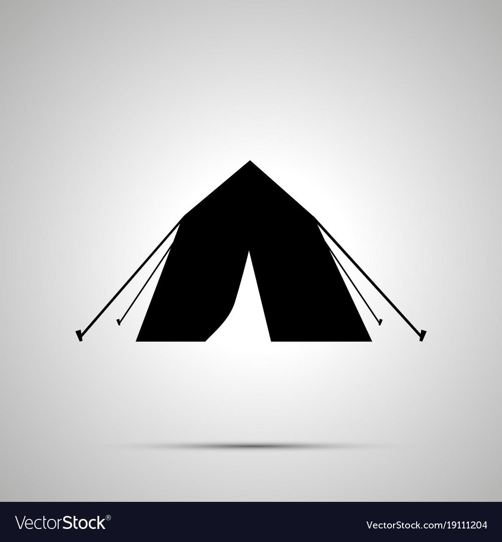 Tourist tent silhouette simple black icon vector image
