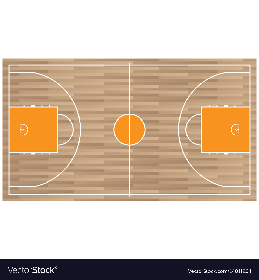 Wooden baseball court top view icon isolated on
