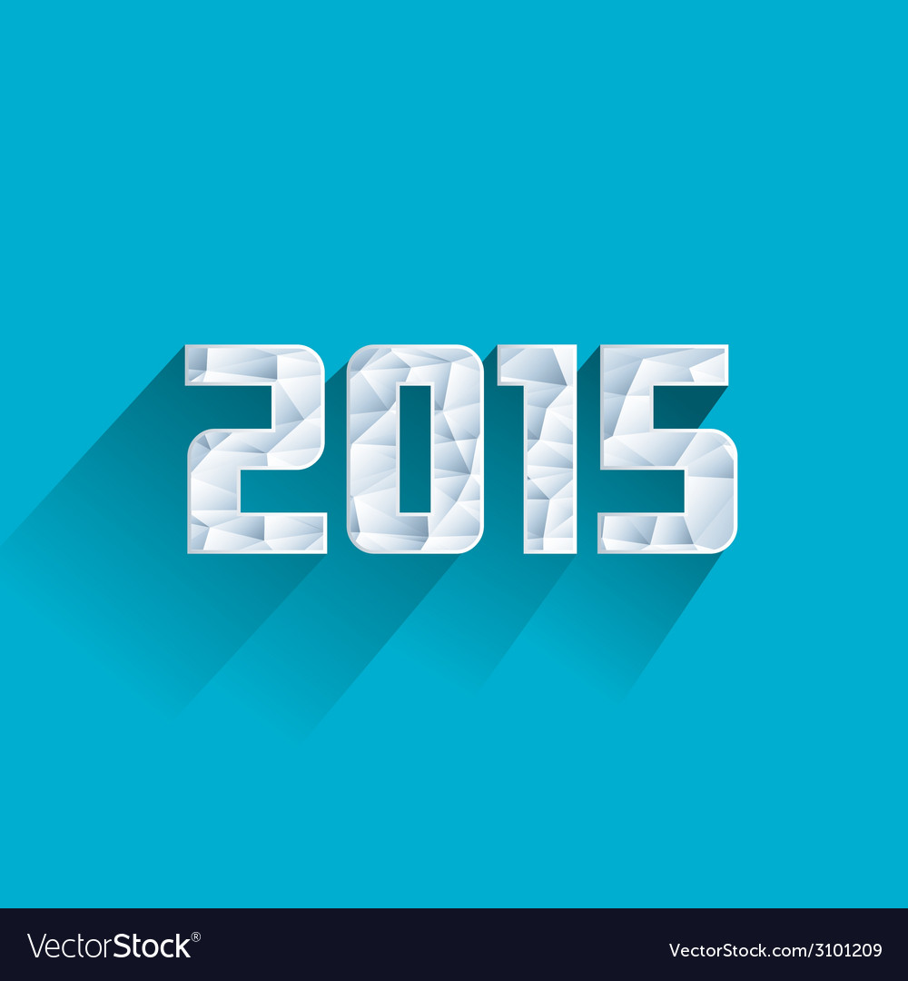 Abstract ice polygonal 2015 New Year