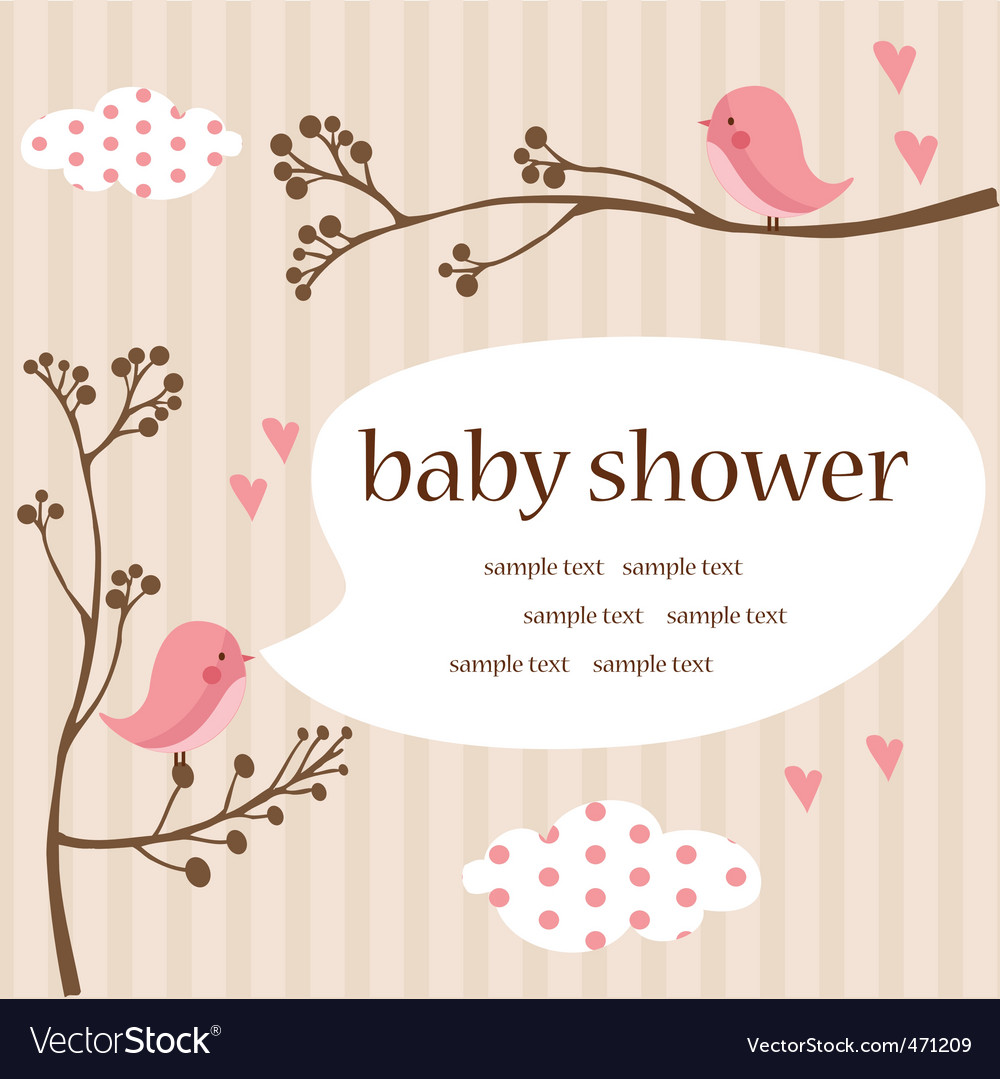 Baby template vector image