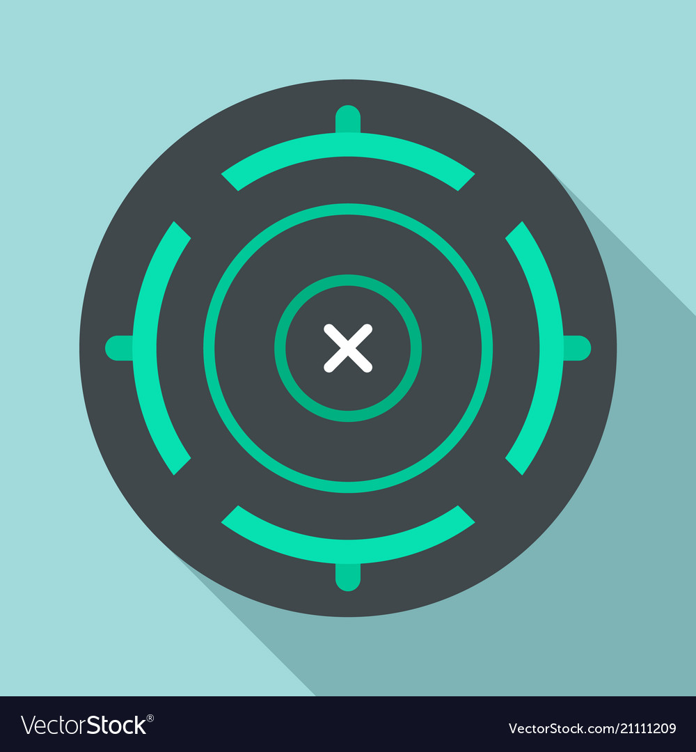 Cross aim target icon flat style
