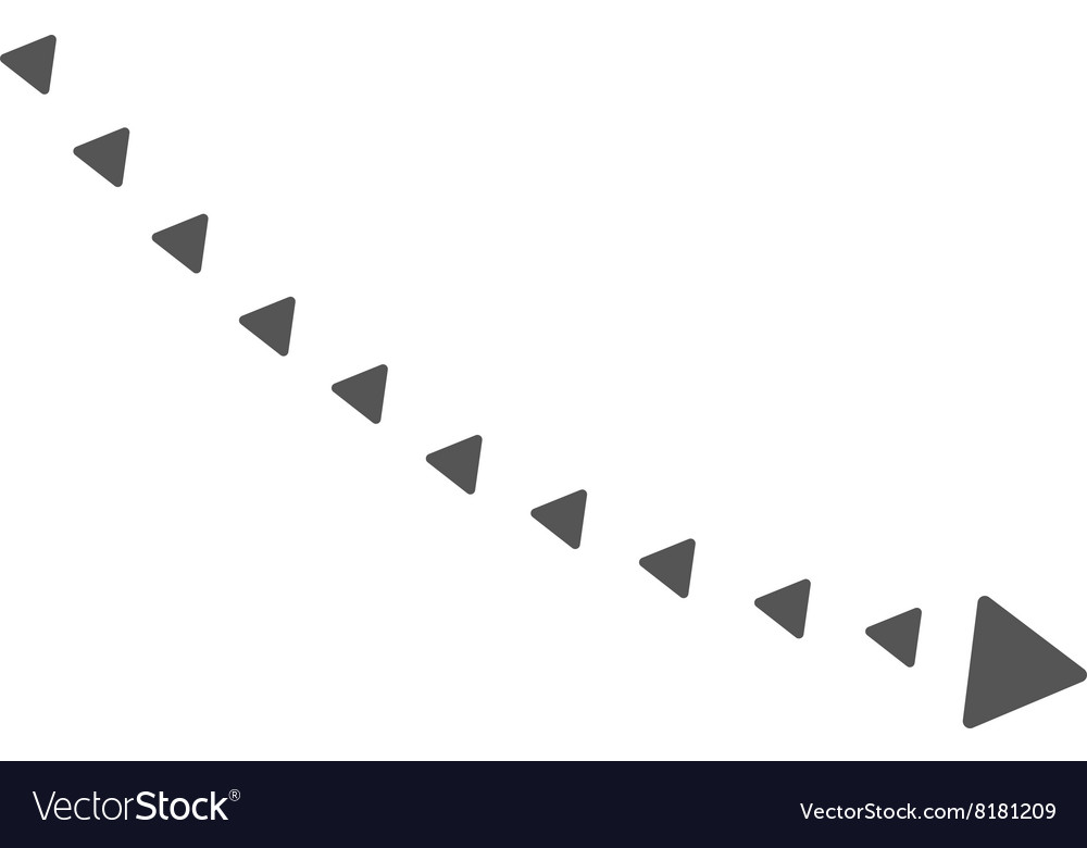 Dotted Decline Trend Flat Symbol vector image