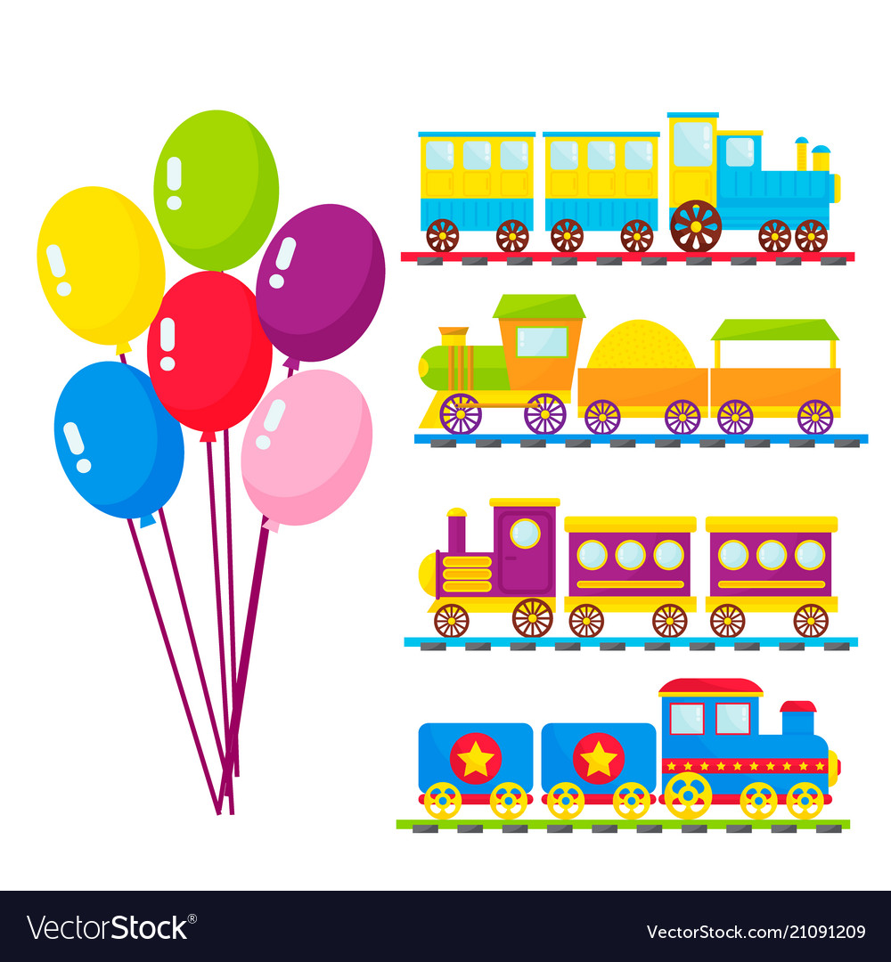 Kids train cartoon toy with colorful