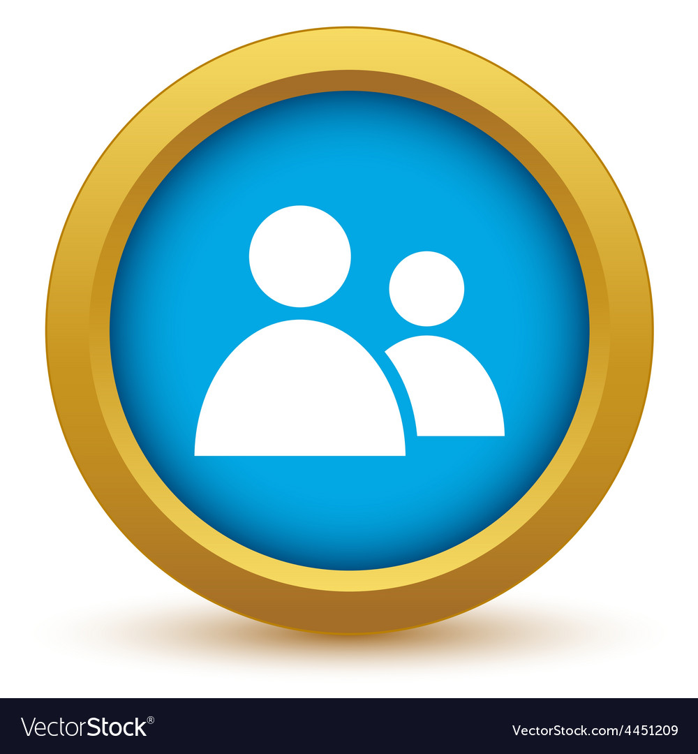 New gold leader icon vector image