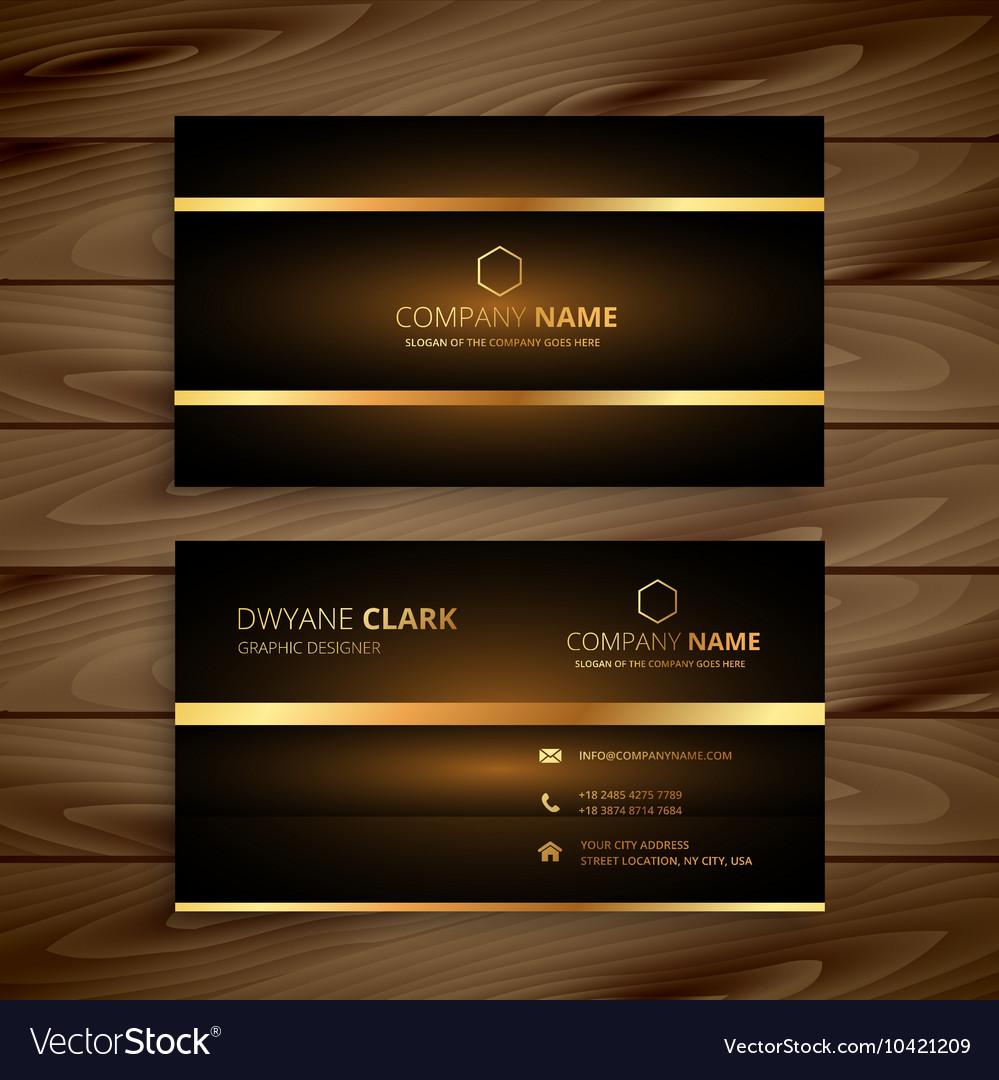Premium Luxury Business Card Design Vector Image