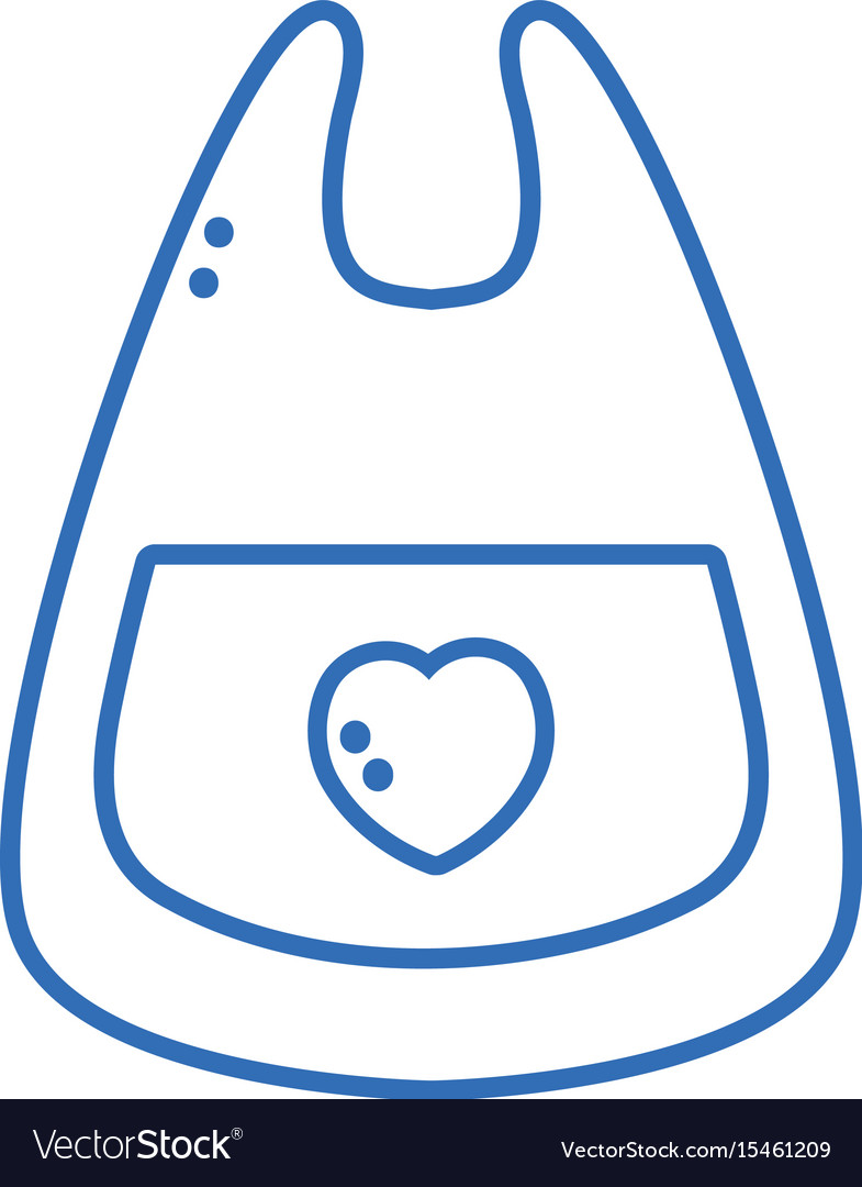 Silhouette bib baby tool that used to eat vector image
