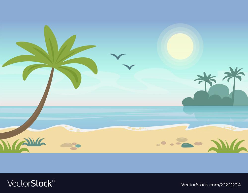 Beautiful seaside tropical