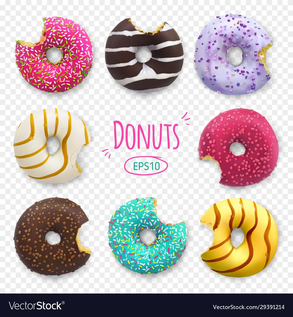 Bitten donuts bakery sweet