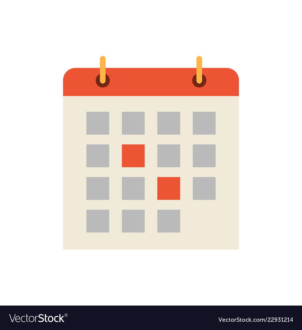 Calendar Days Icon.Calendar Dates And Days Icon