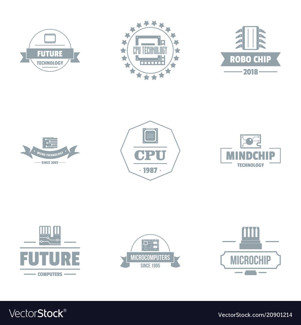 future cpu logo set simple style royalty free vector image future cpu logo set simple style royalty free vector image