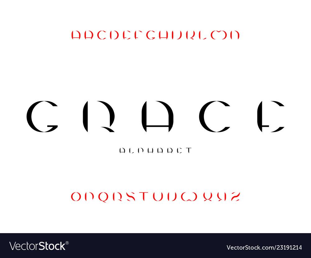 Grace font alphabet