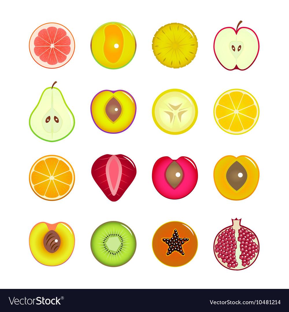 Halves Of Fruit Set