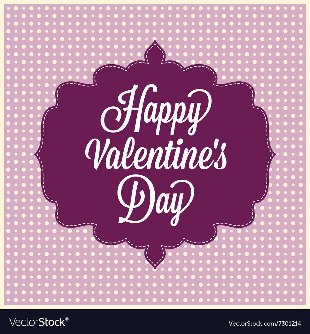 Happy Valentines Day Vintage Card Royalty Free Vector Image