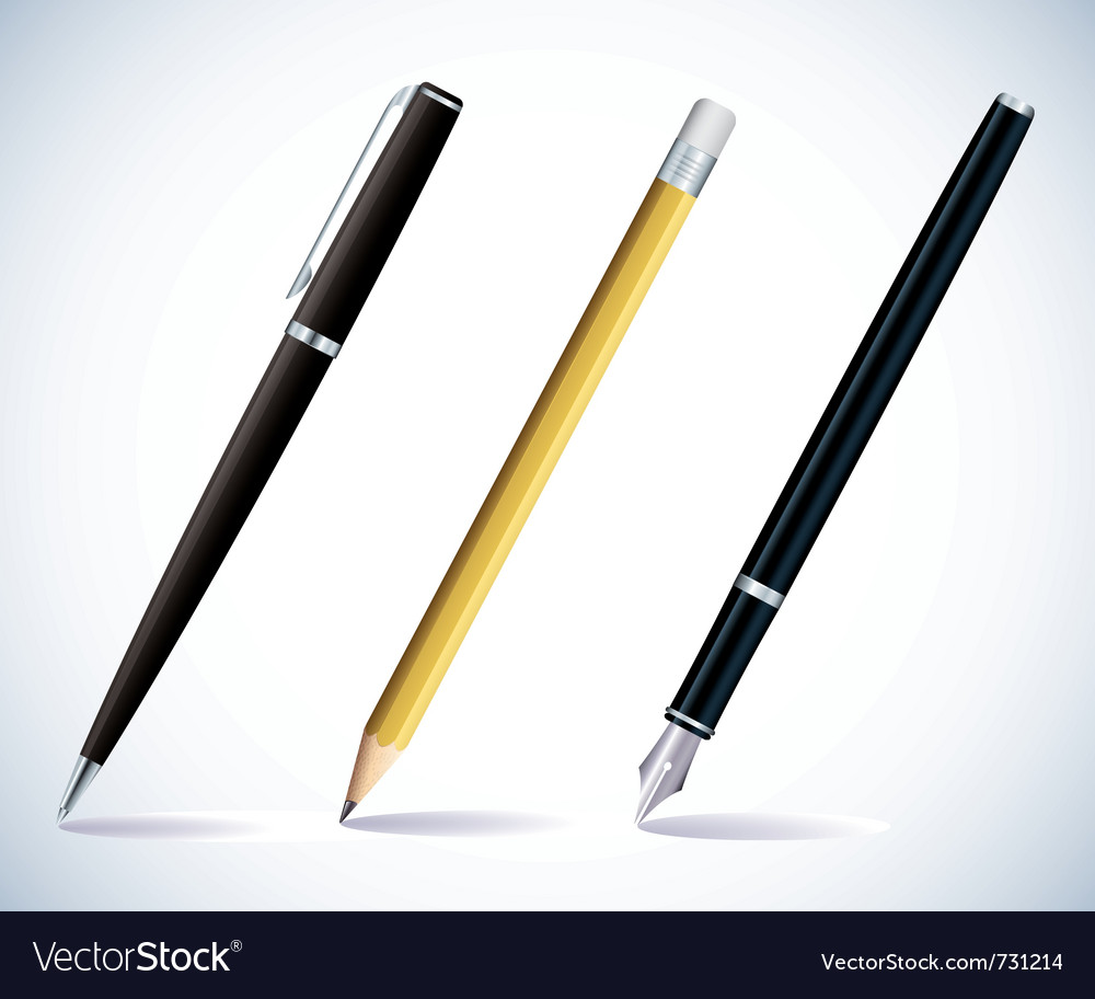 Pencil and pens vector image
