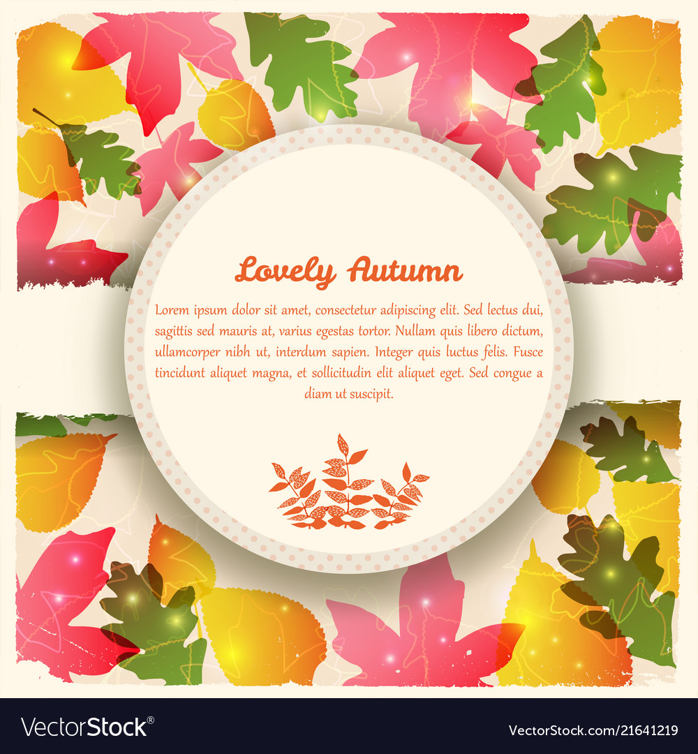 Abstract colorful autumn template Royalty Free Vector Image