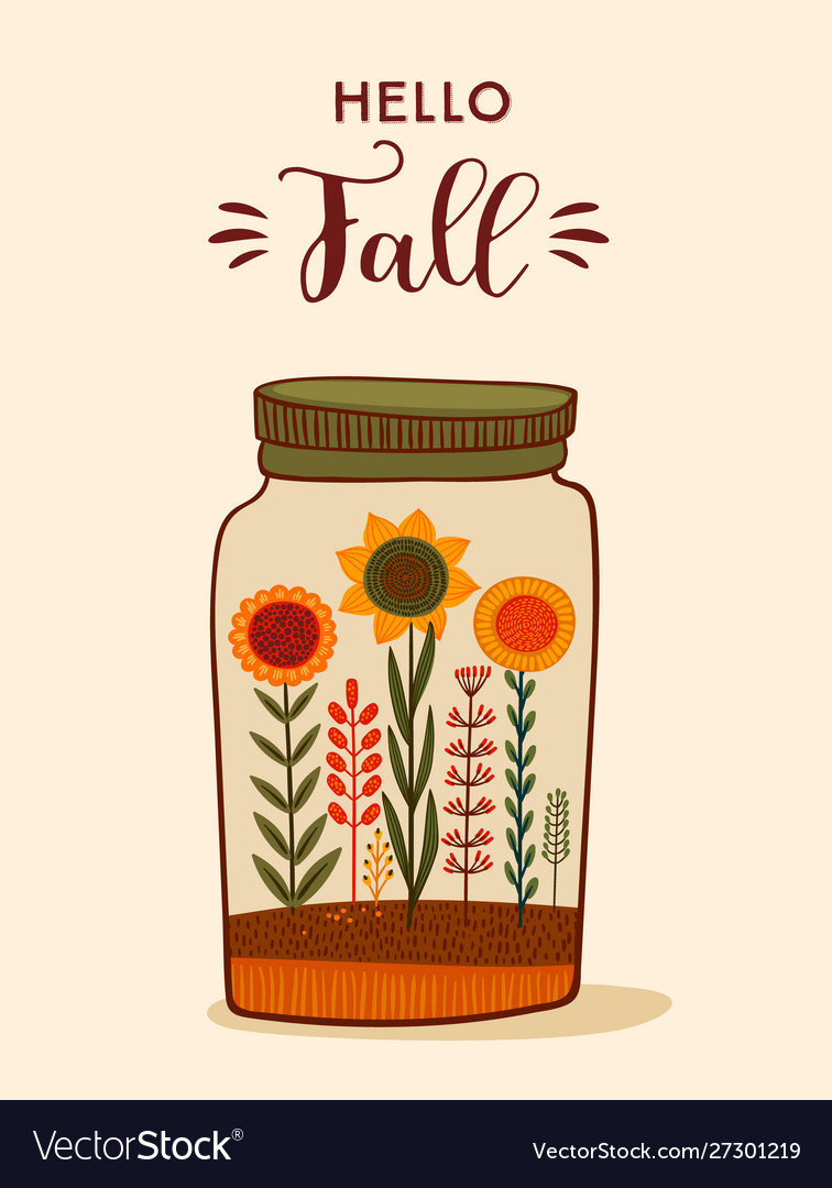 Autumn cute design for card