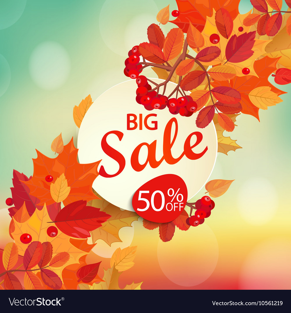 Big sale - autumn background