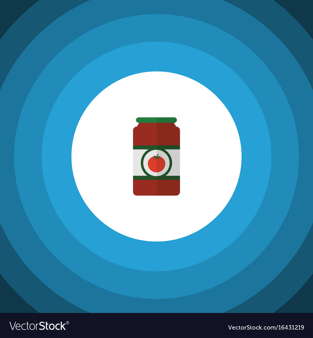 Isolated tomato sauce flat icon ketchup