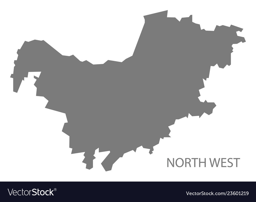 South Africa North West Map.North West South Africa Map Grey