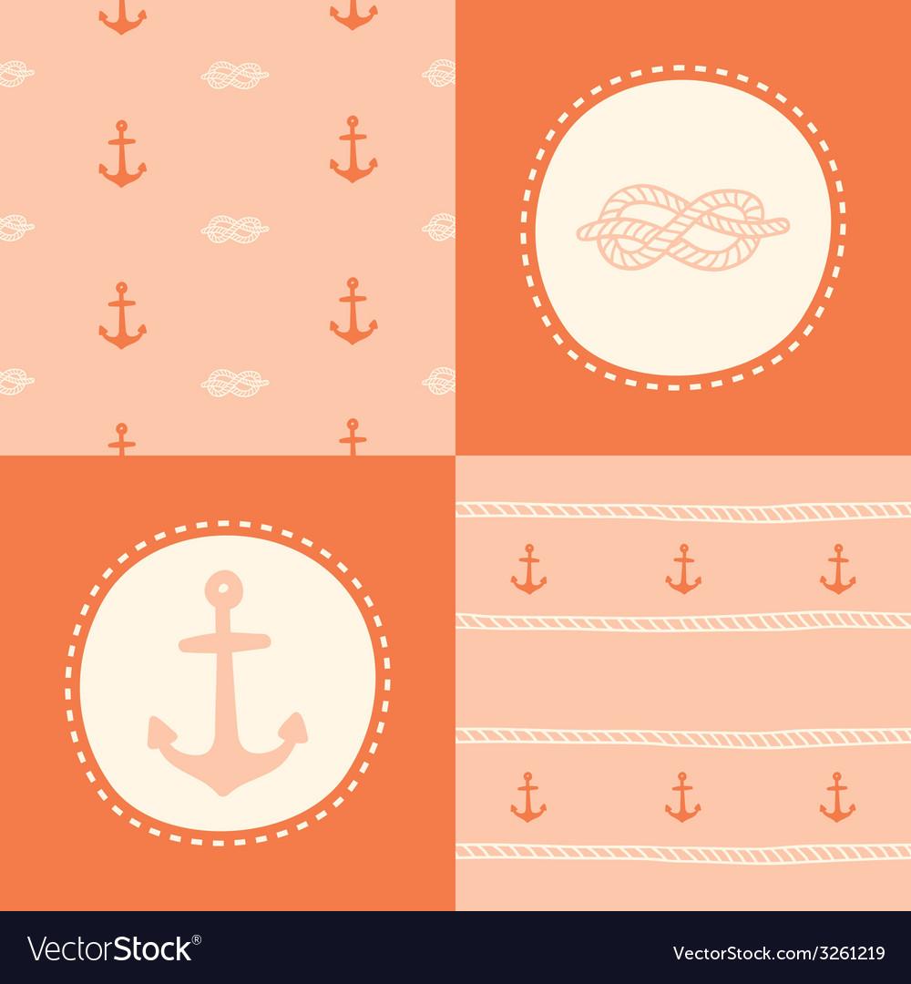 Retro anchor pattern set