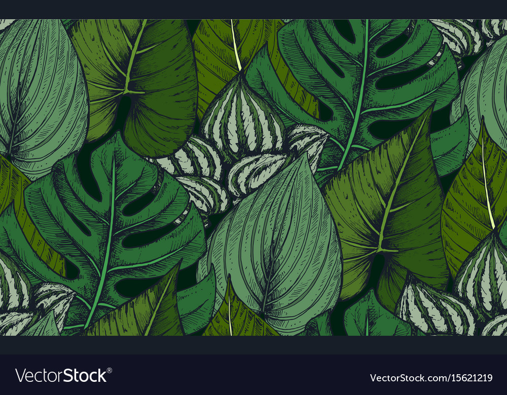 Seamless pattern with compositions of hand