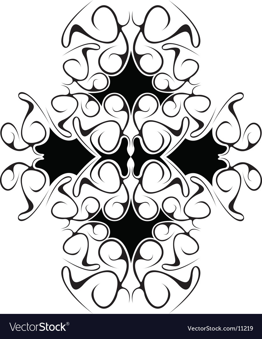Tribal cluster vector image
