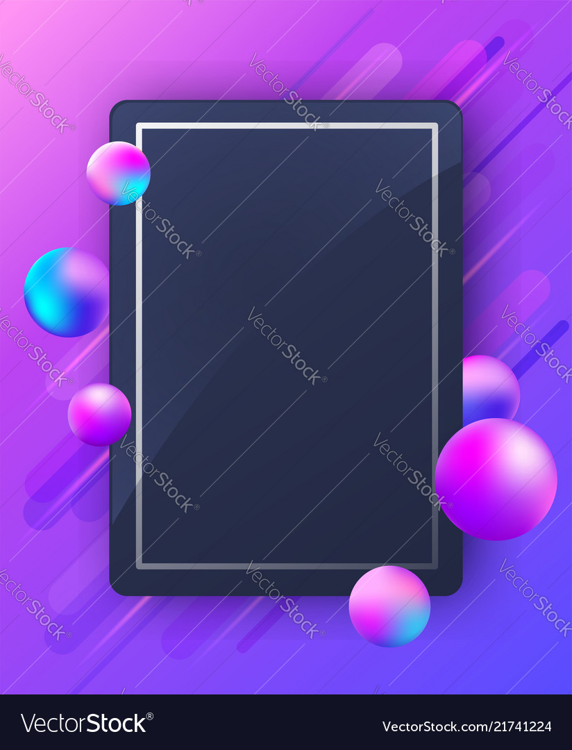Abstract violet background with falling balls