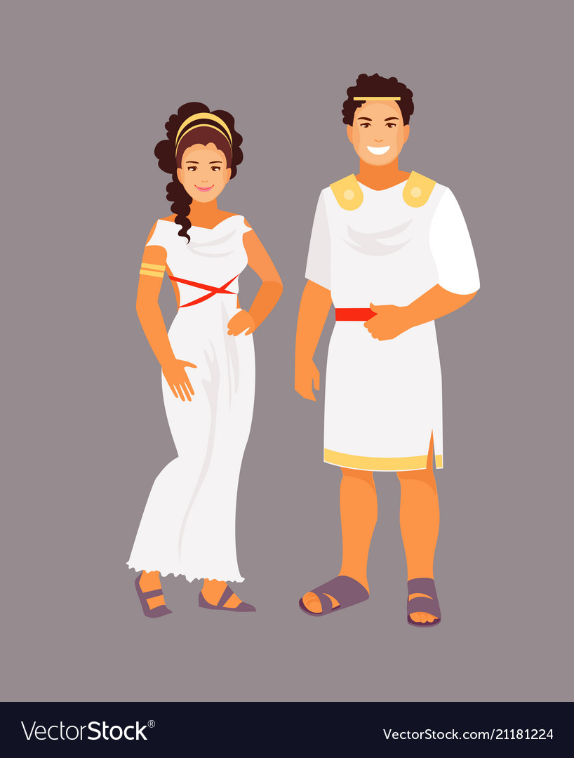 Ancient greek costume vector image  sc 1 st  VectorStock & Ancient greek costume Royalty Free Vector Image
