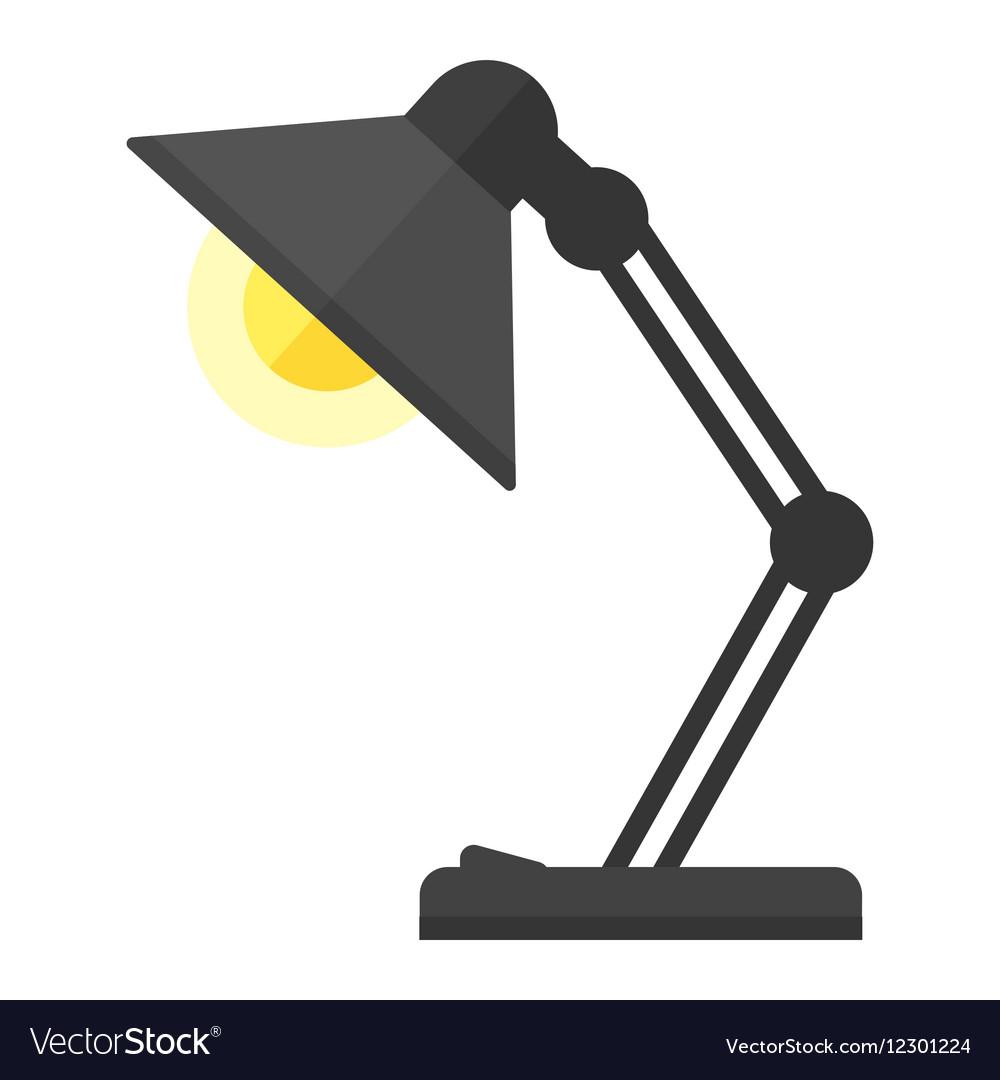 Cartoon Lamp Royalty Free Vector Image Vectorstock