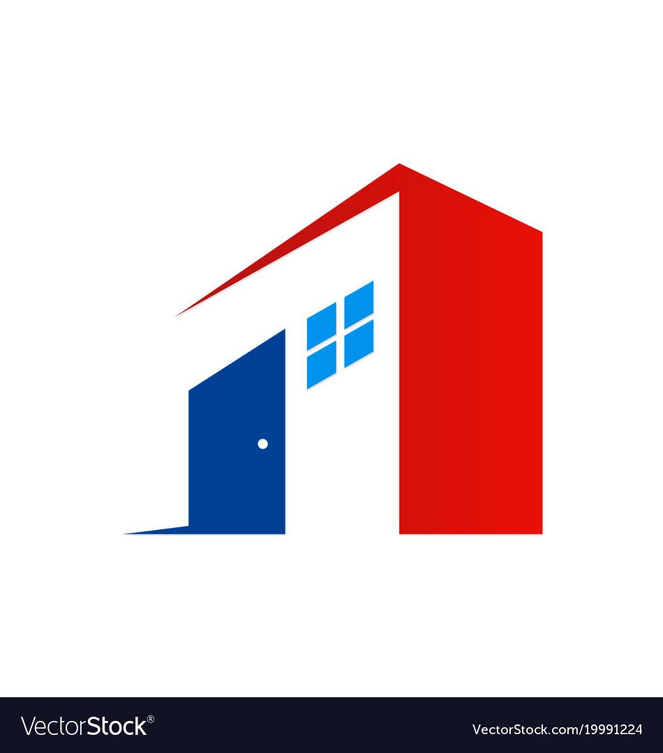 Door building house company logo