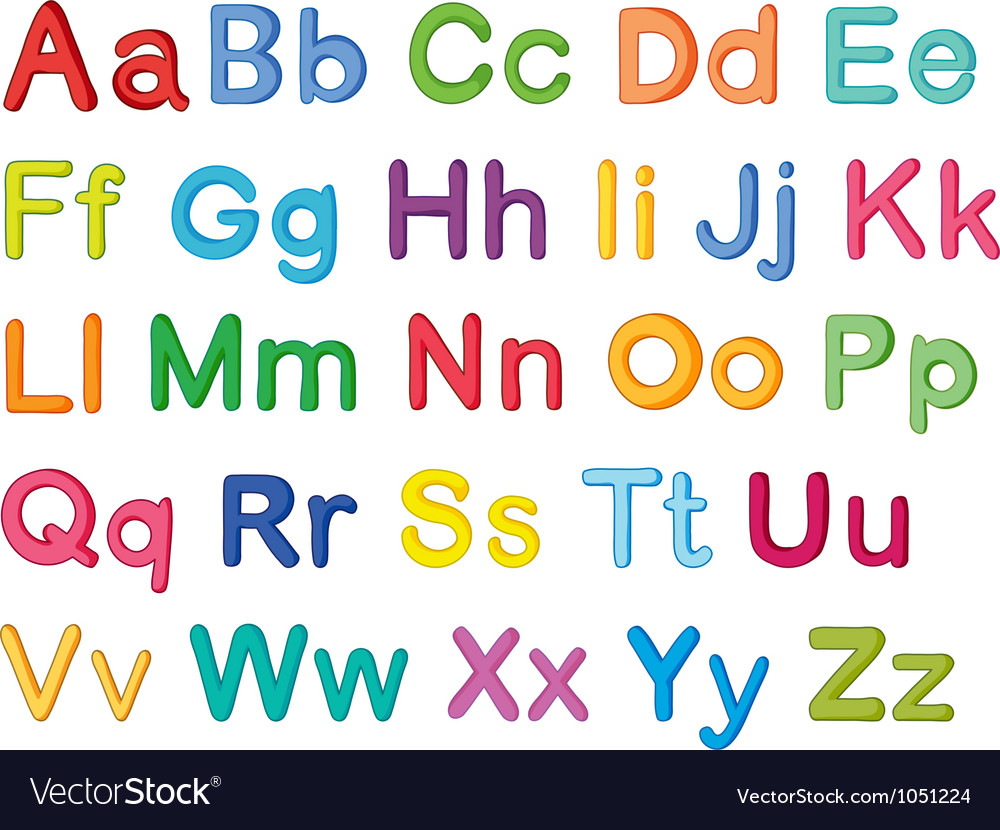 English alphabets Royalty Free Vector Image - VectorStock