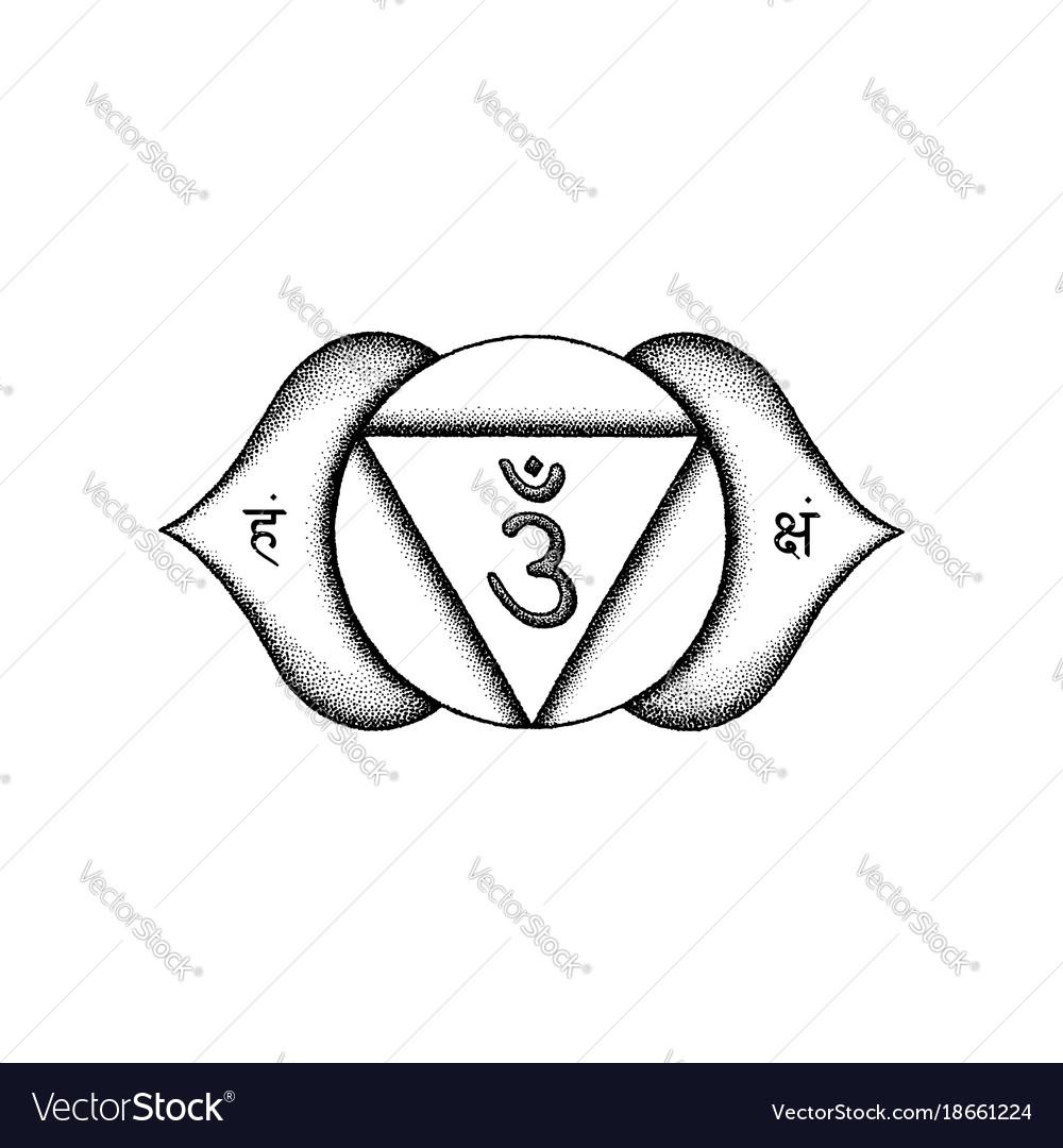 Hand drawn chakra ajna