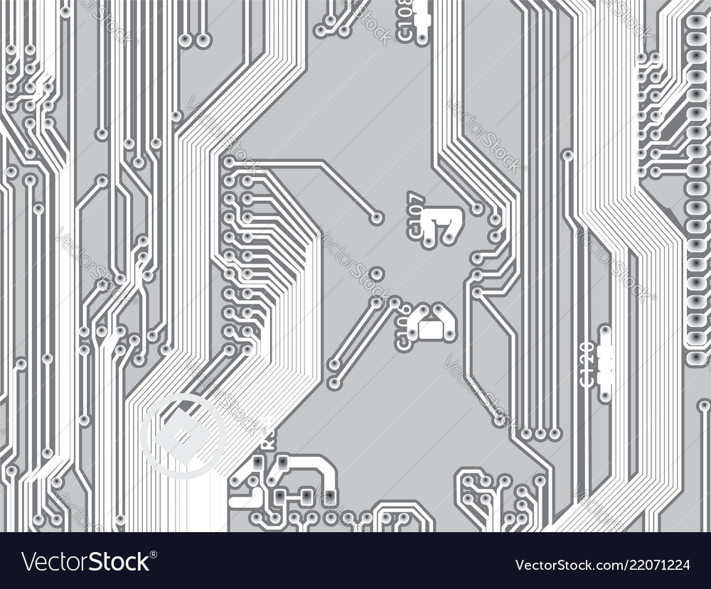 Microcircuit Printed Circuit Board Background Vector Image Buy Home Theater Boardcircuit Boards Orderpcb