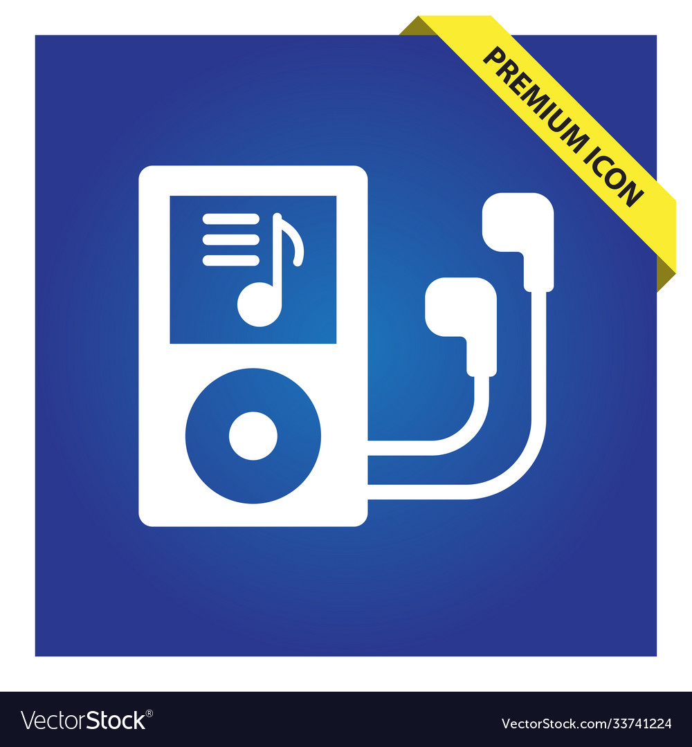 Mp3 player with headphones icon