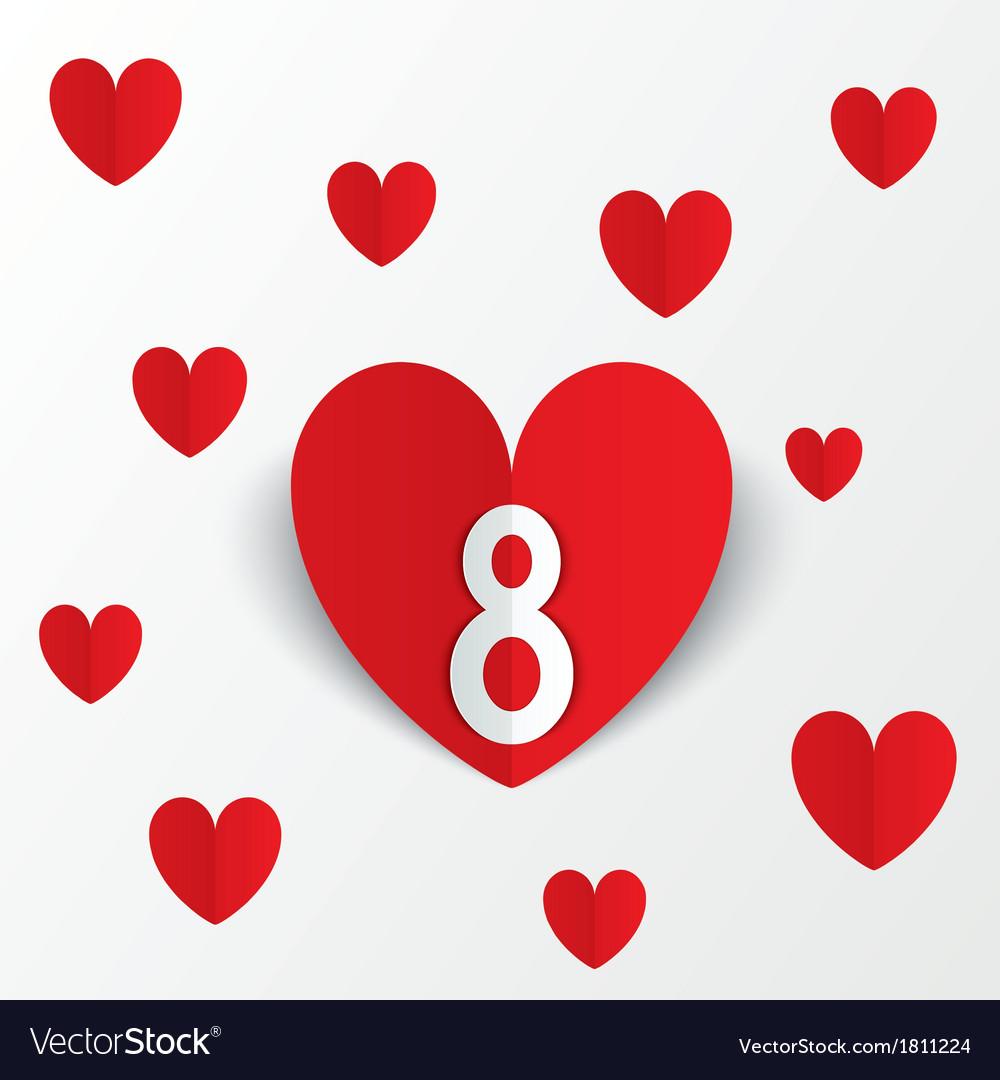 Открытки на 8 марта сердечки, открытки