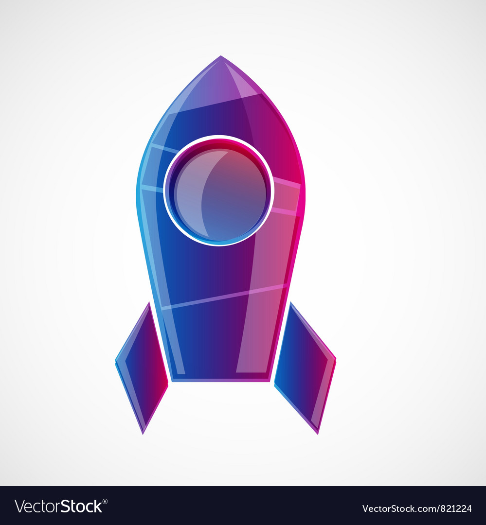 Rocket design concept vector image