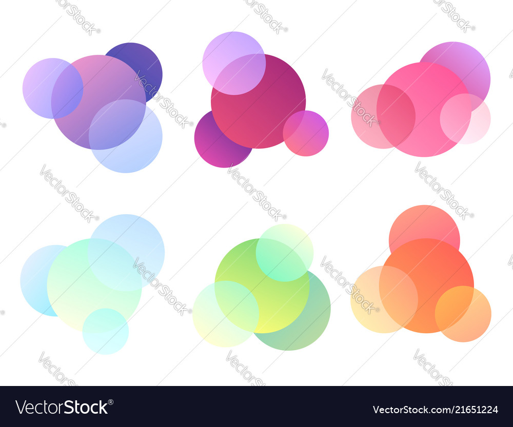 Set of multicolored round elements objects