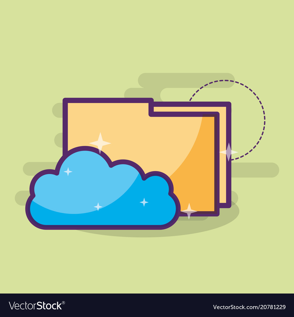 Cloud computing storage hosting folder files