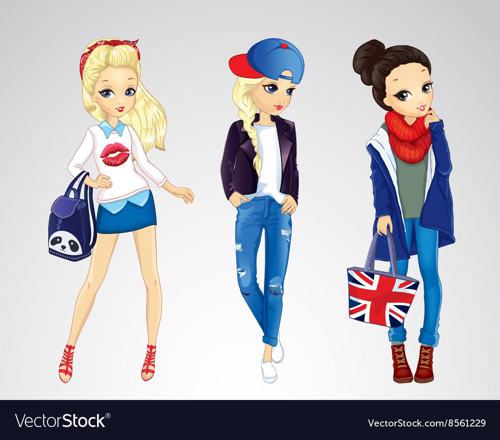 Girls Dressed In Jeens Style