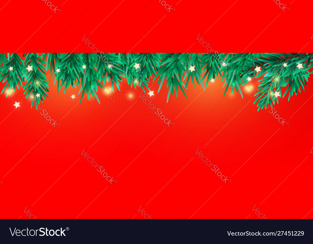 New year or christmas tree branches decorative