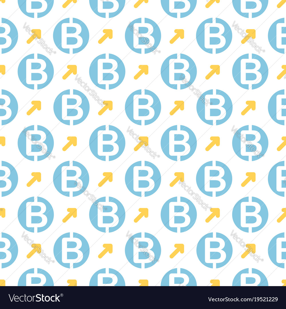 Seamless pattern with bitcoins