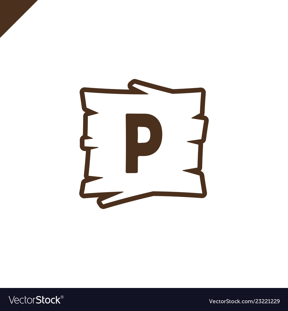 Wooden alphabet or font blocks with letter p