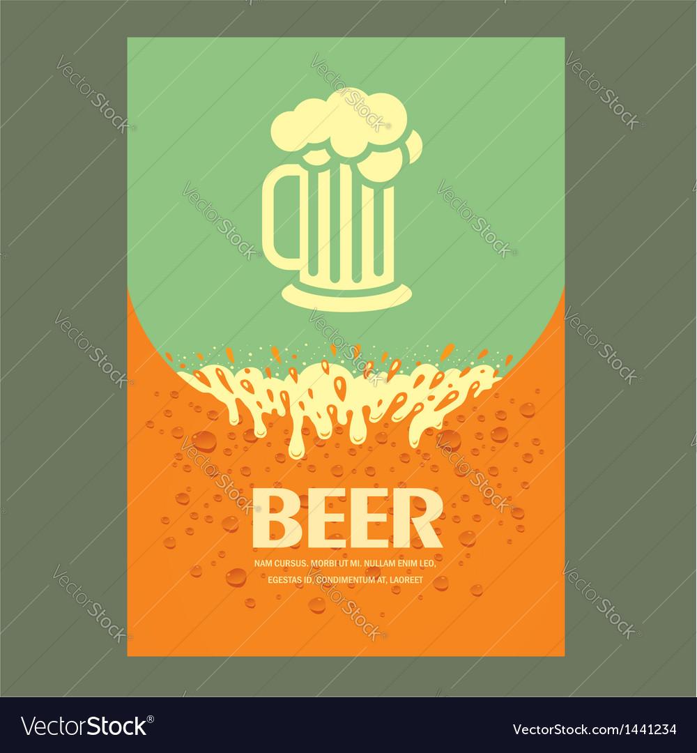 Beer cover card menu splash